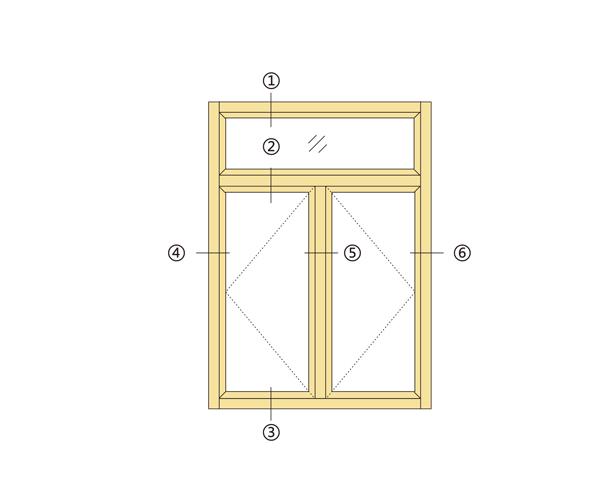 35系列铝材平开窗